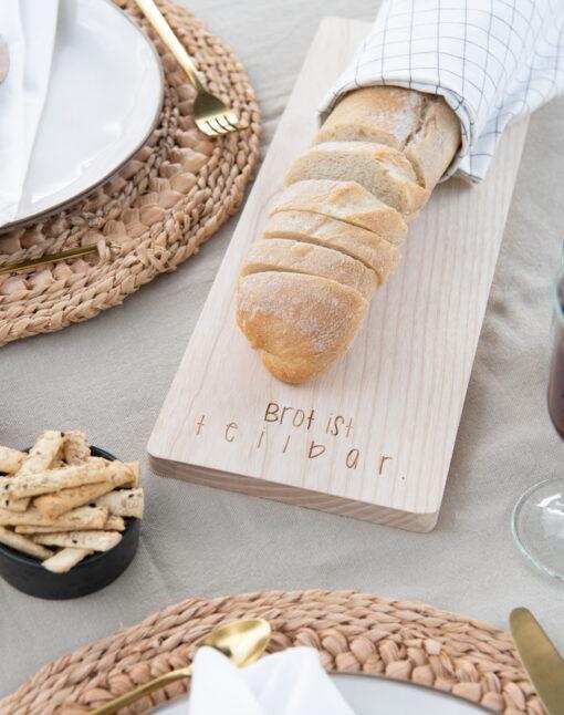 Schneidebrett Brot Kirche Geschenkidee