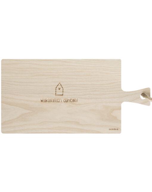 Willkommen Daheim Schneidebrett Holz Einzugsgeschenk