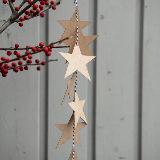 Girlande Sterne Holz