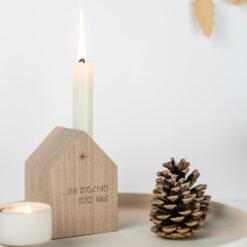 Weihnachtsdeko Kerzenhalter Haus