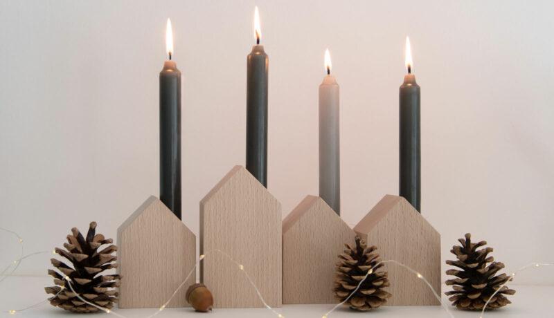 Herbstlich dekorieren mit Kerzen