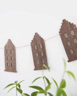 Holz-Girlande Grachtenhaus Amsterdam