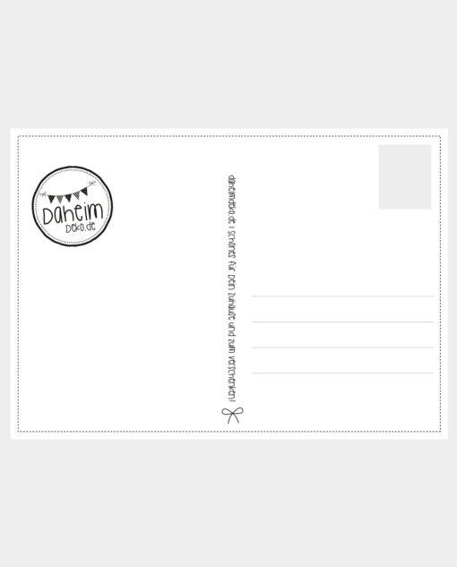 Postkarte für den Einzug