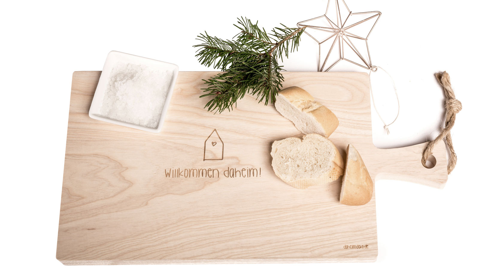 Schneidebrett Geschenk zum Einzug Willkommen daheim