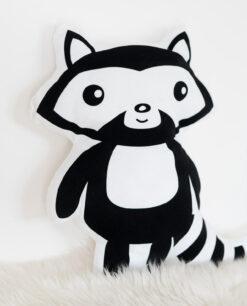 Kissen fürs Kinderzimmer Waschbär