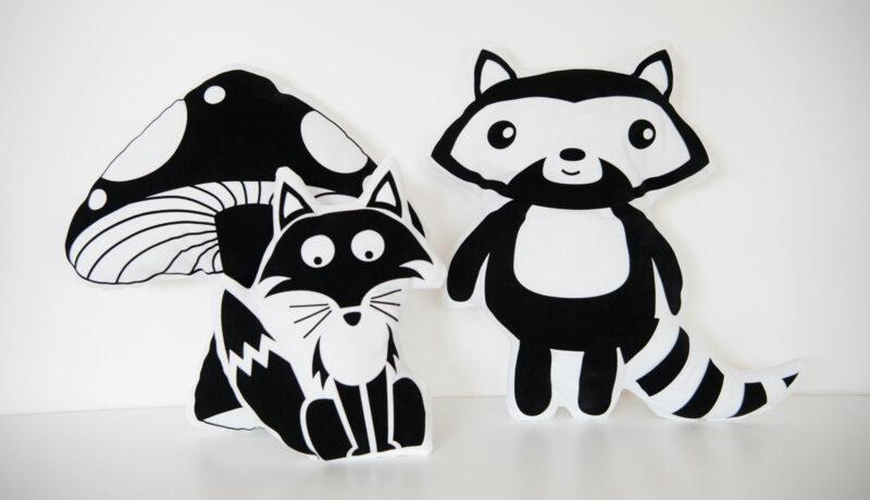 Kissen mit Tiermotiven Wald