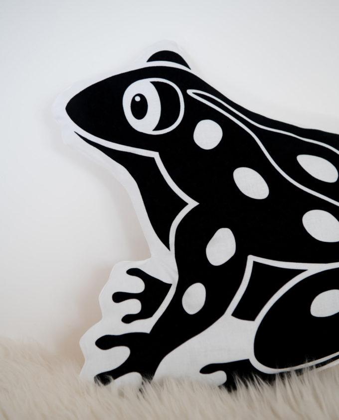 Kissen Froschmotiv