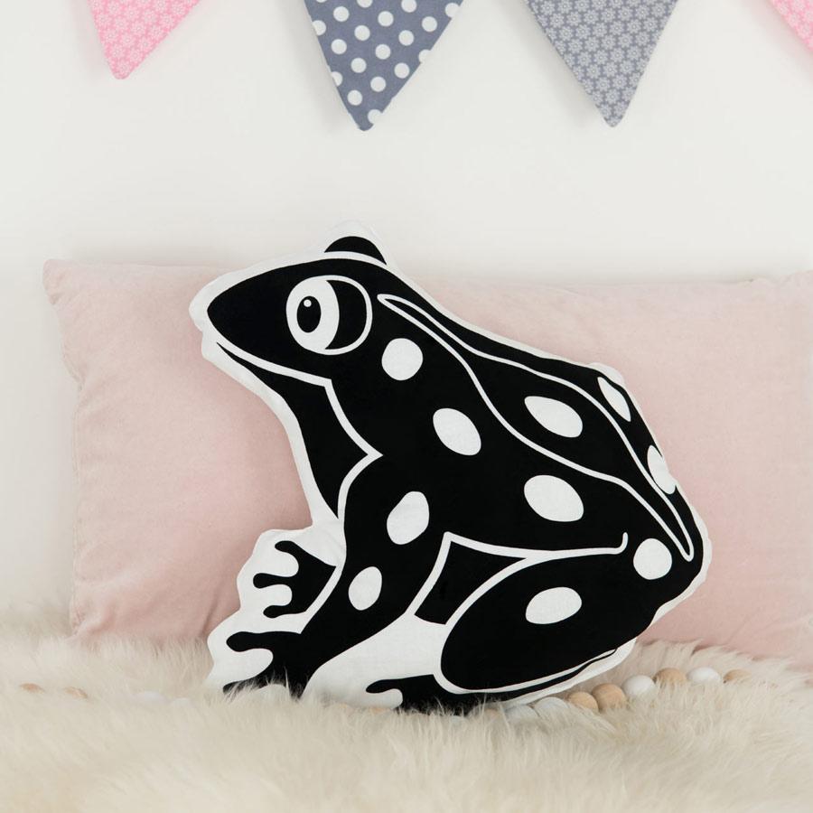 Kissen mit Tiermotiv Frosch