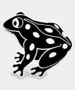 Tierkissen Frosch schwarz-weiß