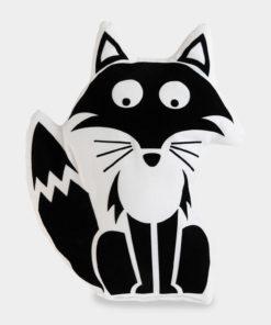 Tierkissen Fuchs schwarz-weiß