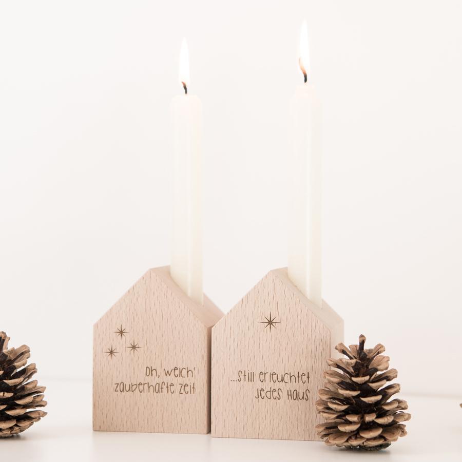 Deko Häuschen mit Kerze, Weihnachten