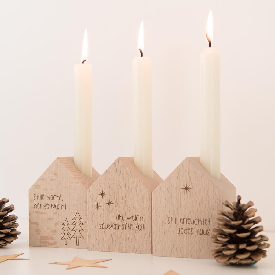 Deko Häuschen Weihnachten mit Kerze