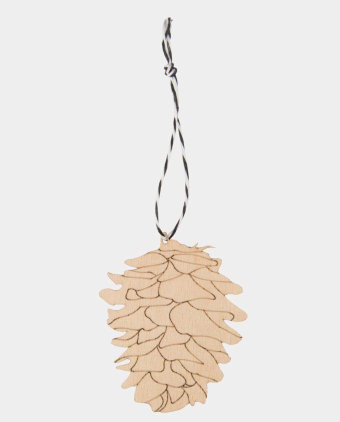 Anhänger Zapfen aus Holz, Ornament