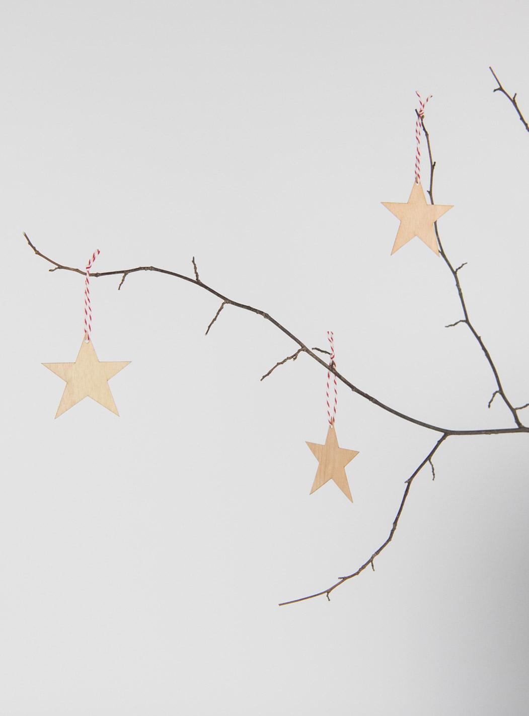 Anhänger Sterne Holz