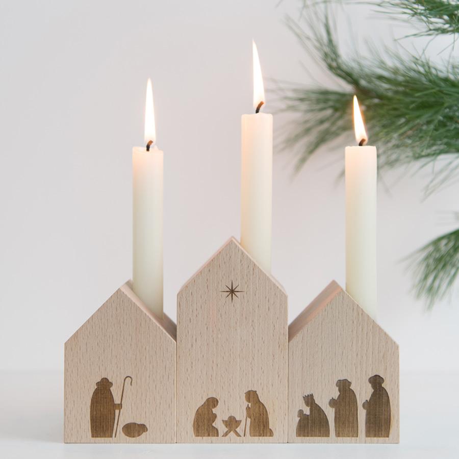 Design Weihnachtskrippe aus Holz