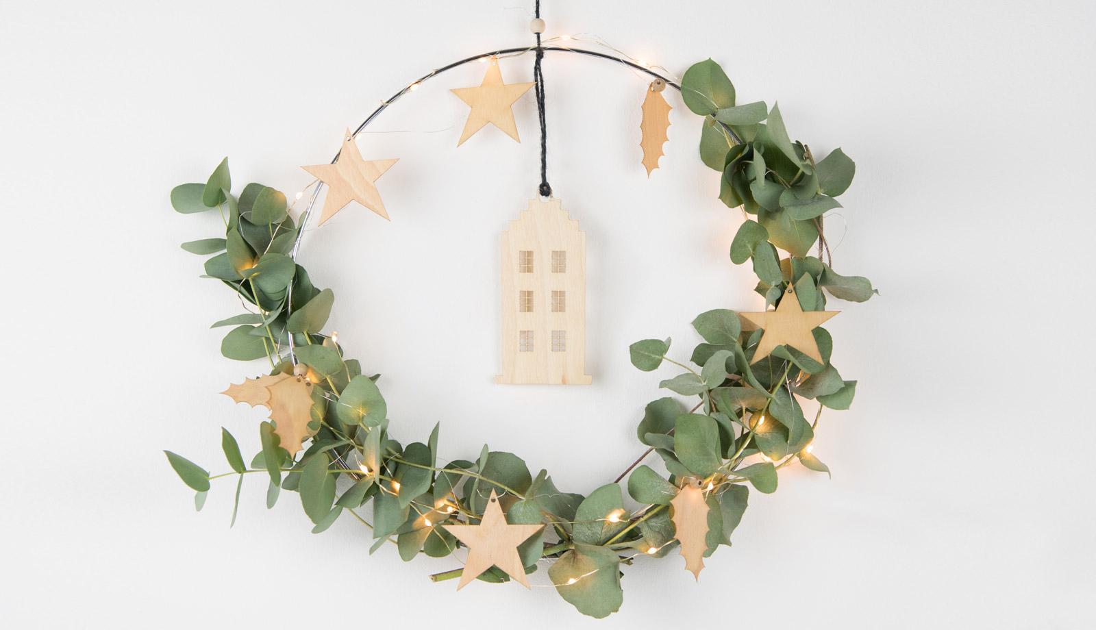 Kranz Weihnachen zum Aufhängen mit Eukalyptus