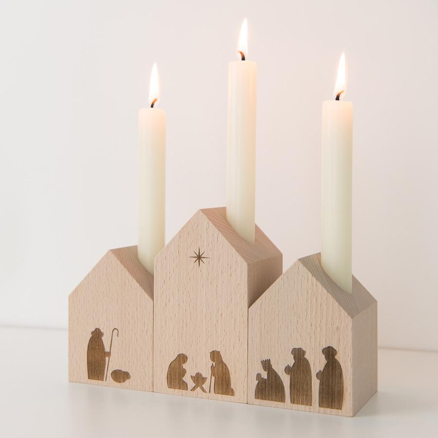 Minimalistische Krippe aus Holz - Design aus Deutschland