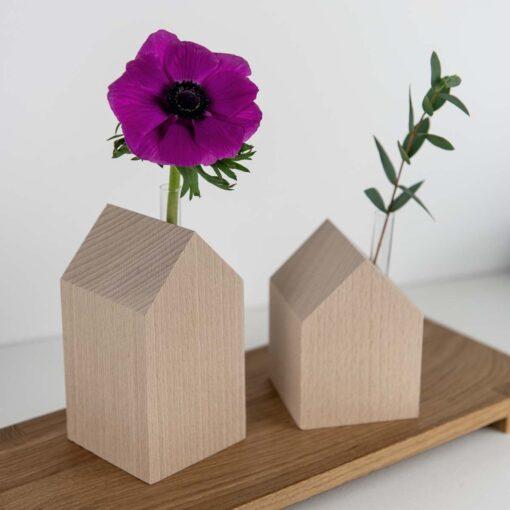 Dekohaus Holz Vase Buche