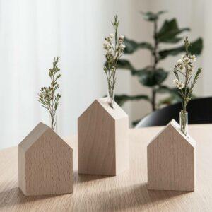 Dekohäuser aus Holz
