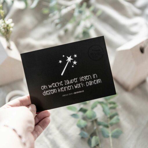 Postkarte zum Einzug