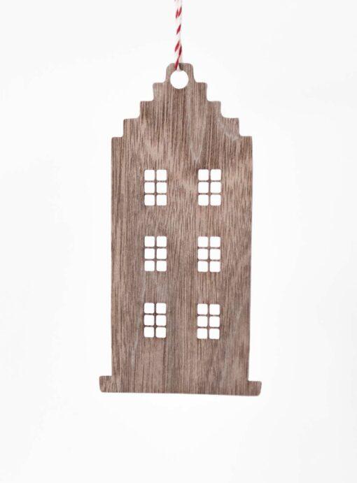 Deko Anhänger Holz Hausform