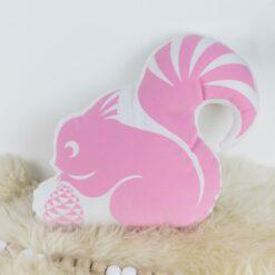 Kissen Eichhörnchen rosa
