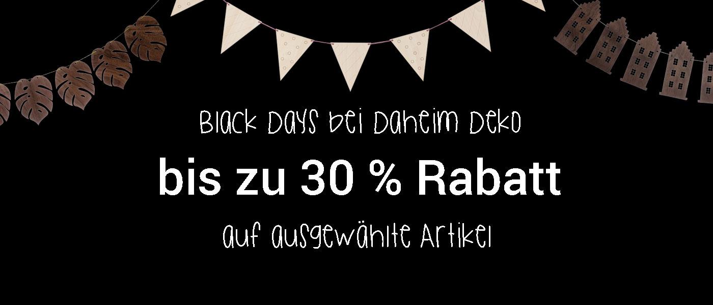 Black Days Daheim Deko