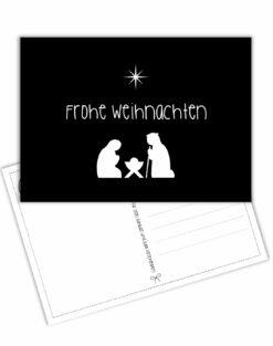 Postkarte Frohe Weihnachten minimalistisch