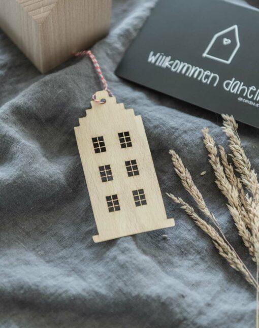 Deko Amsterdam Anhänger Holz Haus
