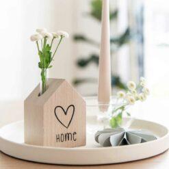 Dekohaus Schriftzug Home und Herz